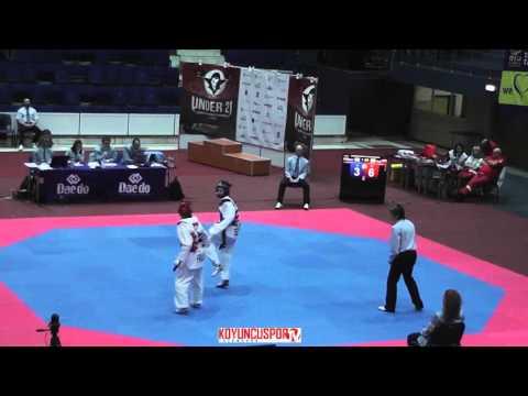53kg Semifinal Tatiana KUDASHOVA (RUS) vs (ESP) GARCIA R. Tania (-21 ETU TKD Champion 2015) (видео)