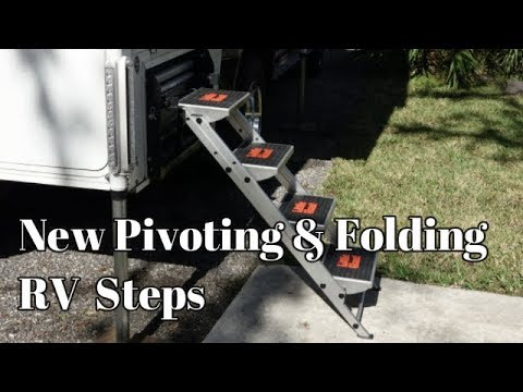 New Pivoting & Folding RV Steps - Enhanced Design