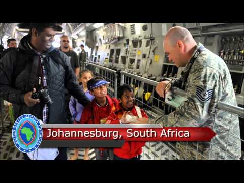 In this week's AFRICOM Update, AFRICOM's Commander, GEN. David Rodriguez speaks to the press on a variety of topics at the Pentagon while in South Africa, AFRICOM in sponsoring a program that will help educate thousands of disadvantaged children. And finally, the holiday spirit is alive and well as the command Christmas tree is official lit. Reporting by Lt. Commander Dave Hecht, USN.  United States Africa Command, in concert with interagency and international partners, builds defense capabilities, responds to crisis