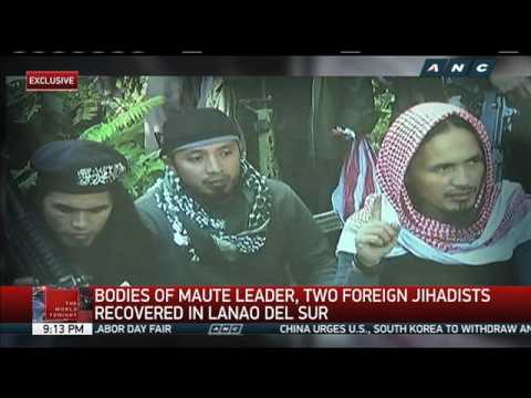 Bodies of Maute leader, foreign jihadists recovered in Lanao del Sur