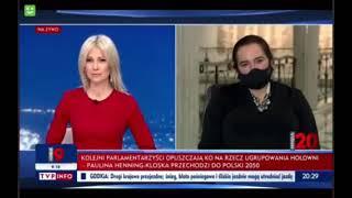 Magdalena ogórek zaorana w programie na żywo…