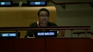 Noelene Nabulivou's intervention at the  HLPF 2014: http://webtv.un.org
