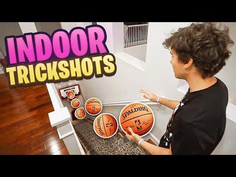 *CRAZY* INDOOR 2HYPE MINI HOOP BASKETBALL TRICKSHOTS!! (видео)