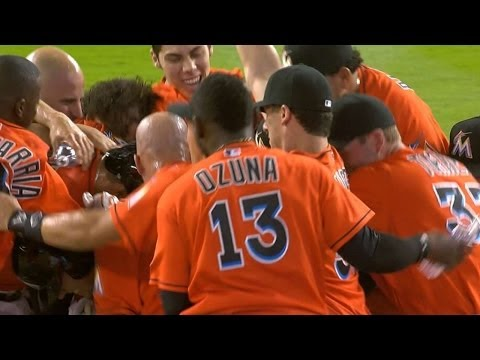 Video: Marlins win in the 9th on Baker's RBI double