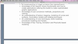 Computer Graphics - Lecture 1