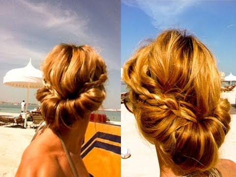 Лёгкая греческая причёска