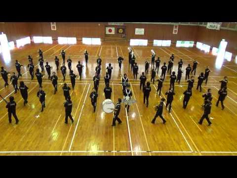 三股中学校 宮崎県マーチングコンテスト 当日練習