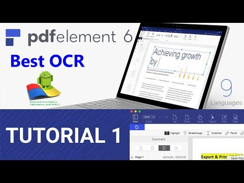 PDFelement 6 pro OCR tutorial || A Simple Way to Extract Text From Images |