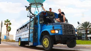 Video Surprising TFue With A Fortnite Battle Bus In Real Life MP3, 3GP, MP4, WEBM, AVI, FLV Agustus 2019