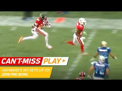 Video: Hayward's INT & Laterals, Hilton's Leaping Catch & Shady's TD! | Can't-Miss Play | 2018 Pro Bowl HLs