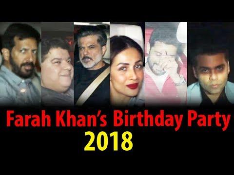 Farah Khan's Birthday Party 2018 | Karan Johar, Ma