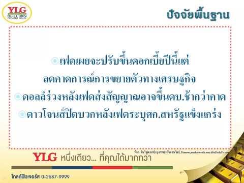 YLG บทวิเคราะห์ราคาทองคำประจำวัน 18-06-15