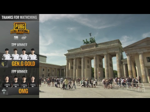 DE: PUBG Global Invitational (PGI) 2018 - Tag 5 (FPP)