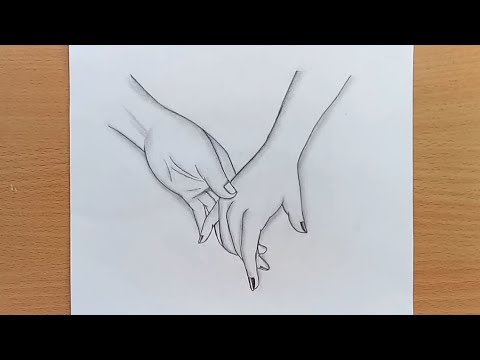 How To Draw Holding Hands Step By Step Very Easy Farjana Drawing