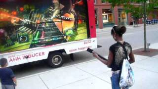 My friends & I were on our way to Navy Pier & we saw this truck w/ guitar hero on it. So we stopped for a good 45mins & played it. That guitar was jank as hell!!! I played on HARD MODE. I sucked tht day lol.