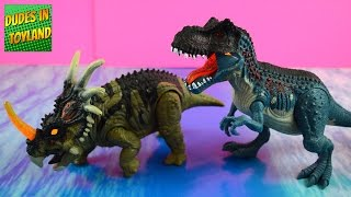 Dinosaur toys by Animal Planet - Light and Sound T-rex & Styracosaurus