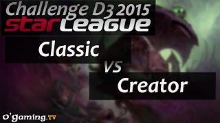 Classic vs Creator - Starleague 2015 Season 2 Challenge - Day 3