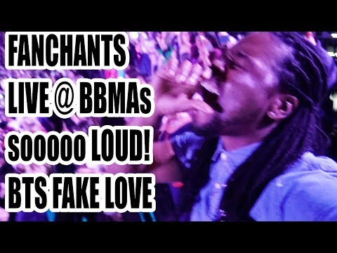 LOUDEST FANCHANTS  BTS FAKE LOVE  LIVE HD FANCAM REACTION!!!  I WAS THERE!!! BBMAs 2018!