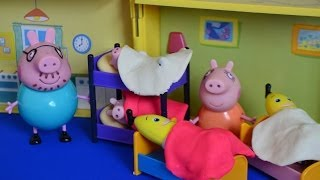 NEW Peppa Pig Full Episode Play-Doh Sleep Over Bananas in pajamas Daddy pig Mammy pig