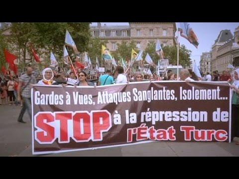 Διαδηλώσεις Κούρδων σε Γαλλία, Γερμανία, Βέλγιο