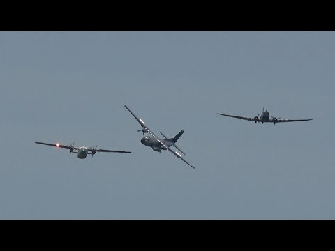 3 Generations Flypast, one C-160D...