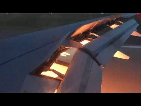 العرب اليوم - شاهد: المنتخب السعودي ينجو من حريق ضخم في محرك الطائرة
