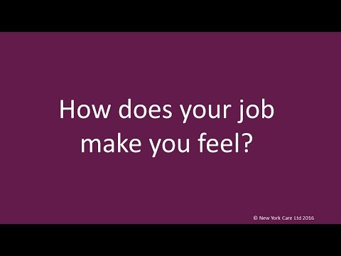 How does your job make you feel?