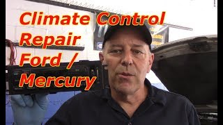HVAC stuck on defrost? In this video I will show you how to diagnose and repair AC vent control problem on this 2008 Mercury Grand Marquis / Ford .
