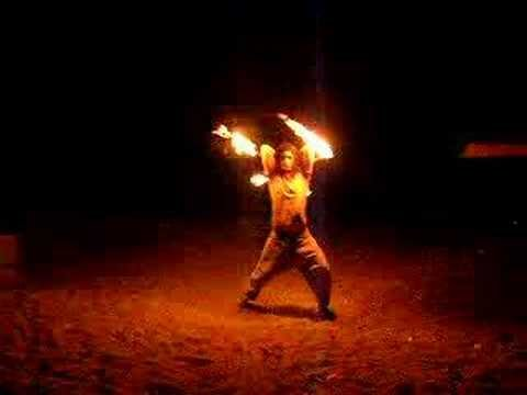 fire twirling in Cyprus