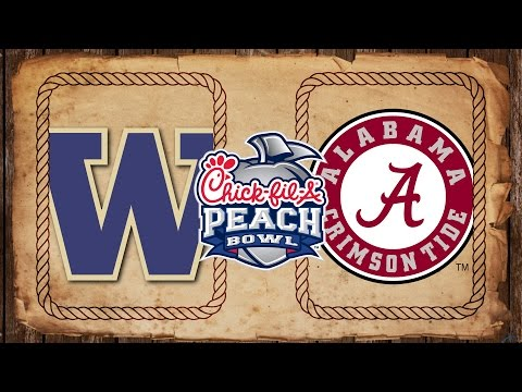 Washington vs. Alabama | Peach Bowl Preview (видео)