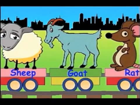 Learn Animal Train - learning animals video for kids