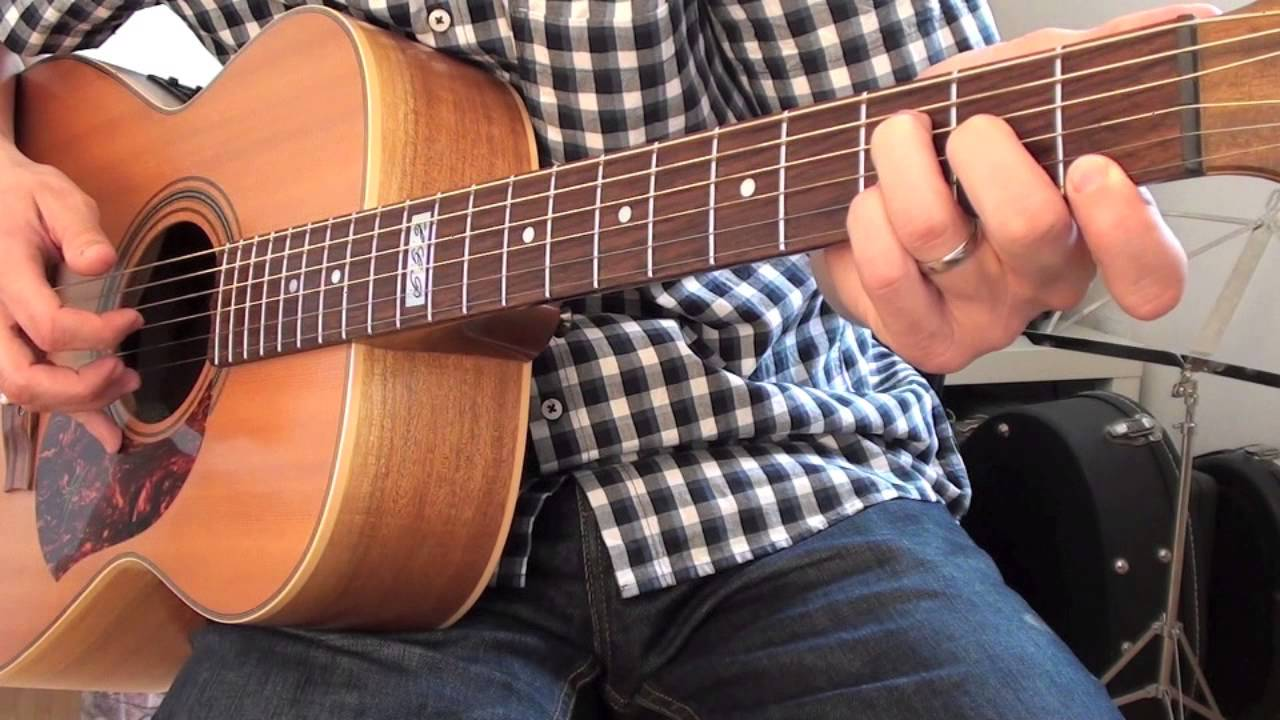 Falling slowly Glenn Hansard guitar lesson tutorial how to play