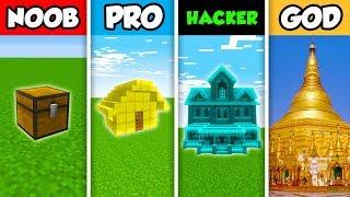 NOOB vs PRO vs HACKER vs GOD : FAMILY TREASURE HOUSE in Minecraft! (Animation)