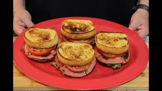 Texas Toast Grilled Bologna Sliders! (Tennessee Chow Chow)