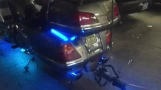 Honda gold wing with custom lighting