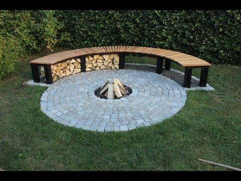 Feuerstelle im garten selber bauen. Gartenbank Feuerstelle selber bauen.