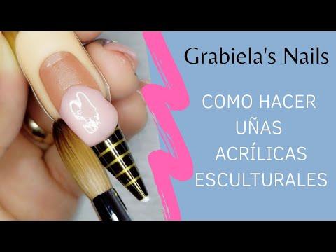 Videos de uñas - Como hacer uñas acrílicas esculturales (Con molde o Forma) incluye limado.