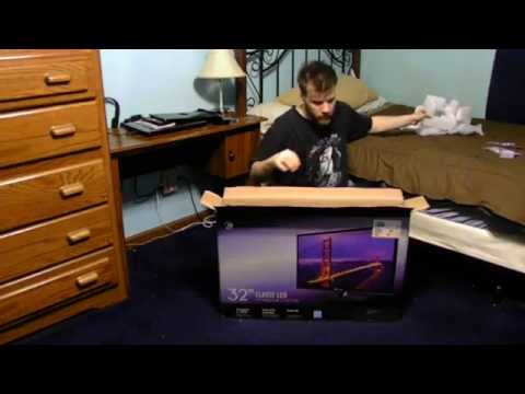 UNBOXING A NEW TV 32 INCHES ELEMENT LED