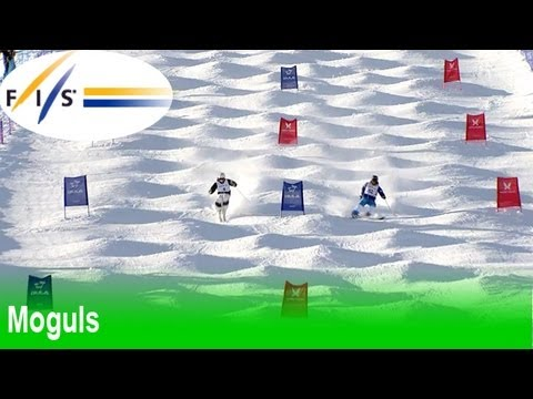 Highlights from the men's dual moguls at the 2013 Voss/Oslo FIS Freestyle World Ski Championships