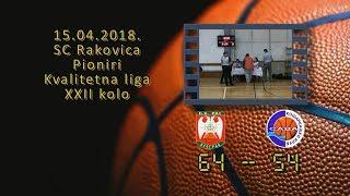 kk ras kk sava 64 54 (pioniri, 15 04 2018 ) košarkaški klub sava