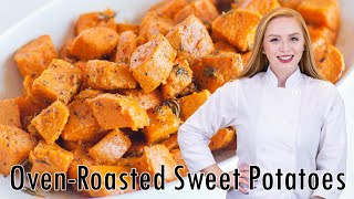 FULL RECIPE HERE: http://tatyanaseverydayfood.com/recipe-items/oven-roasted-sweet-potatoes/ Delicious and...