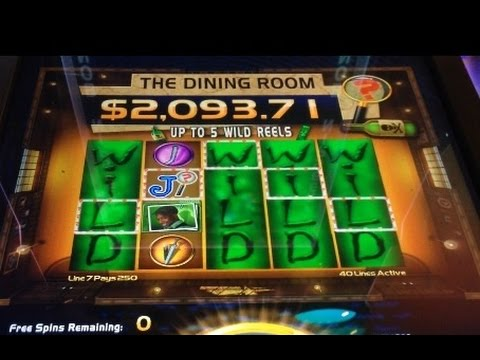 CLUE 2 slot machine Dining Room BIG WIN!