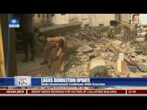 Lagos State Government Continues With Demolition Of Houses