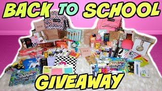 "Thank you all for watching my huge back to school giveaway! I just want to say a huge thank you to all of you that have subscribed and continued to come back and watch my videos! Also thank you for the tremendous amount of support you have all given me on my channel! I am so grateful and I love giving back to you guys! I know many of you are probably dreading the school year starting but I thought this huge back to school giveaway will give you something to look forward to! I hope you all loved that products in this huge back to school giveaway. Enter the giveaway with the link above and good luck! Thank you all for entering! Hope you have a wonderful day!FTC DISCLAIMER: Always full disclosure here! This video is not sponsored. All opinions expressed are my own and not edited by any companies mentioned. Some links are affiliate links.ENTER GIVEAWAY HERE: https://gleam.io/Ycj7O/huge-back-to-school-giveaway RULES:There will be 2 winners.  Must only verify you are subscribed!   Other entries are BONUS entries.    Ends August 22nd at 11:59pm!  Winner will be emailed on August 23rd!    The winners have 24hrs to respond before a new winner will be chosen!  Winner's name will be announced in description box of video after they respond to their email! If you are under 18 you must have parent consent to enter!    Do not email me saying you have parental consent or you want to win!    Giveaway is International!    Emails sent to my email address about the giveaway will be disqualified.    Spam accounts and accounts looking for giveaways will be invalid by generator.    Accounts that follow and unfollow for giveaways will be invalid entries by generator.  This is for my subscribers and constant viewers. Good luck!------------------------------------↓ ALL PRODUCTS LISTED DOWN BELOW ↓→ MY VLOG CHANNEL  http://bit.ly/1TxBSRl→ CHECK OUT MY BLOG WEBSITE  http://madisonmillerblogs.com→ TWITTER  INSTAGRAM  SNAPCHAT  TUMBLR  PINTEREST  madison89miller------------------------------------UPS Mailbox:10531 4s Commons DR. #222San Diego, CA 92127Business Inquiries Only: madisonbusiness@ipsy.com------------------------------------♡WHAT I'M WEARING♡→ LIPSTICK: MUFE 101 http://bit.ly/2t0SEjb → LIP LINER: MAC SPICE: http://bit.ly/2tAsnvq  → NECKLACE:  ROCKSBOX (USE CODE ""madison89millerxoxo"" FOR 1 FREE MONTH): http://bit.ly/1zlI9nQ------------------------------------♡ MAKEUP BRUSHES COUPON CODES ♡→ LUXIE BRUSH 20% OFF ""MADISON20"" http://bit.ly/1GR2NDV → SIGMA 10% OFF ""MADISON"": http://bit.ly/1WH5v21 → SLMISSGLAM 40% OFF ""MadisonM"" ALL BRUSH BOOKS http://bit.ly/1L9Tkdl → SLMISSGLAM 30% OFF ALL GLAM SETS ""MadisonMiller http://bit.ly/1L9Tkdl  ------------------------------------♡ COUPON CODES ♡→ EBATES GET CASH BACK: http://bit.ly/1V31neY → EMILE CORDON LIP POTS (AMAZING!): http://bit.ly/2mXyCmO→ FACETORY USE CODE ""MADISON20"" FOR 20% OFF https://www.facetory.com → BECAUSE OF CASE PHONE CASES USE CODE ""MADISONMILLER10"" FOR 10% OFF http://bit.ly/2hM10rY → LOVING TAN USE CODE ""MADISON"" FOR A FREE TANNING MITT: http://bit.ly/26ihLwt → SPONGELLE (BEST BODY BUFFERS!) USE CODE ""MADISON20"" FOR 20% OFF: http://spongelle.com→ OFRA COSMETICS (30% OFF USE CODE ""MADISON30""): http://bit.ly/218VA6P→ SUBSCRIBE TO BOXYCHARM: http://mbsy.co/dpqQz → BELFIORE EYESHADOWS (20% OFF ""MADISON""): http://bit.ly/1LERcoM→ THE ORIGINAL BEAUTYBOX (15% OFF ""LOVEMADISON15""): http://bit.ly/1QwHiXC→ 40% OFF GLAM BRUSH BOOK (USE CODE ""MadisonM""): http://bit.ly/1L9Tkdl→ MILLION DOLLAR TAN (20% OFF ""MADISON20""): http://bit.ly/1kehmRw→ ROCKSBOX (USE CODE ""madison89millerxoxo"" FOR 1 FREE MONTH): http://bit.ly/1zlI9nQ"