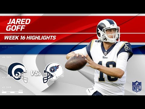 Video: Jared Goff Highlights | Rams vs. Titans | Wk 16 Player Highlights