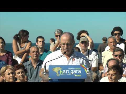 Juan Karlos Izagirre Donostiako alkate(gai)aren hitzartzea, bere hautagaitzaren aurkezpenean