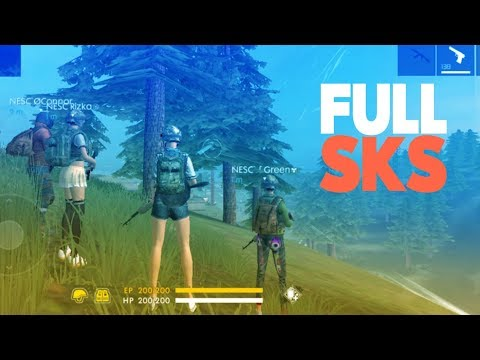 NESCELENG FULL SKS 1 HIT DAMAGENYA SAKIT BUKAN MAIN!! - FREE FIRE INDONESIA