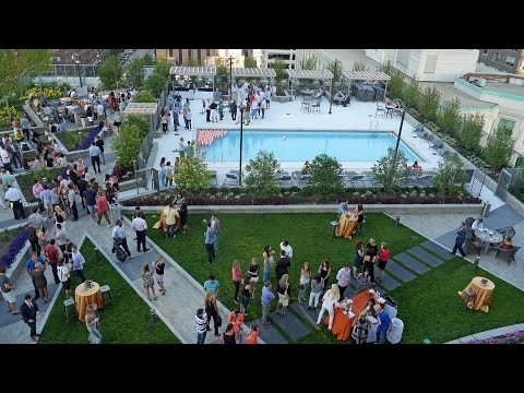 Scenes from the unveiling party at Hubbard Place apartments