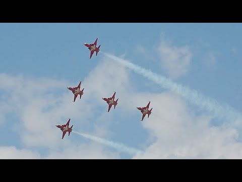 The Patrouille Suisse from the...