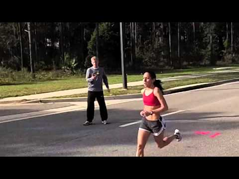 Desiree Davila of Hansons-Brooks runs 3 by 3 miles training for Olympic Marathon Trials